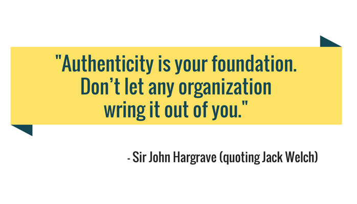 Think of Authenticity as Your Foundation.