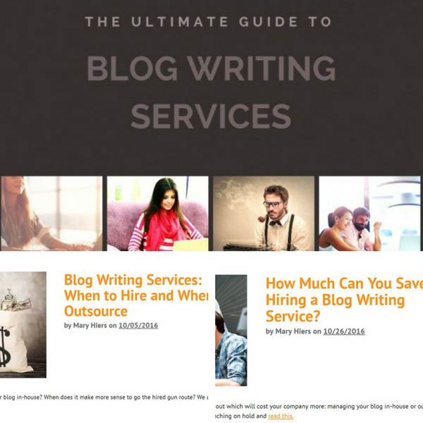 guide to blog writing services