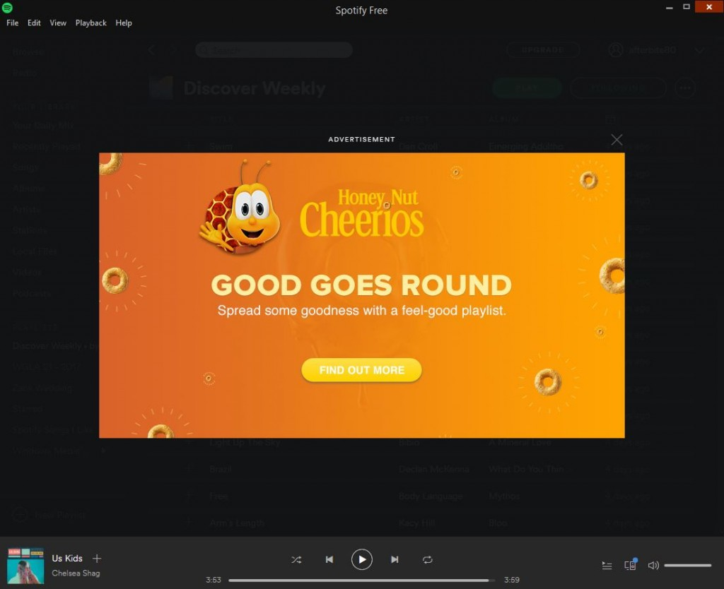 Spotify marketing example