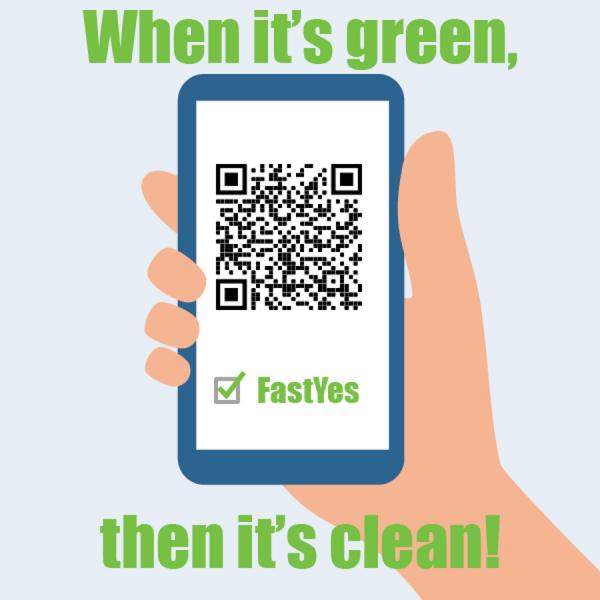 When it's green, then it's clean.