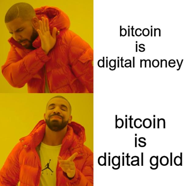 Bitcoin gold meme