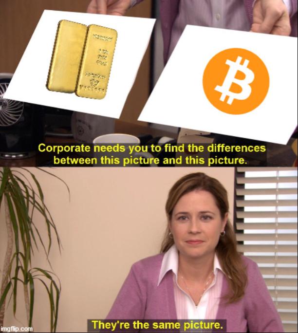 Bitcoin the office meme