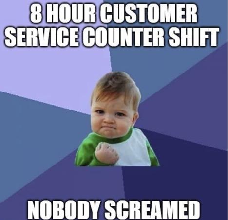 Customer service meme