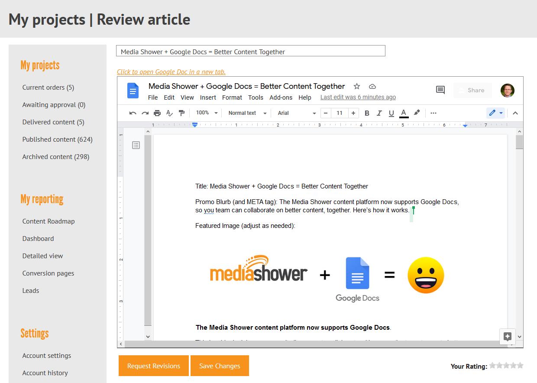 Google Doc screenshot
