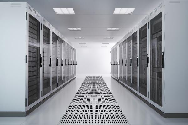 IBM Z - Room of mainframes.