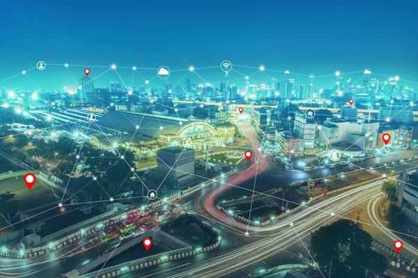 Address Matching - City at night.