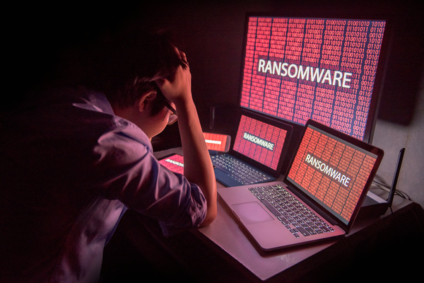 Ransomware on several computers.