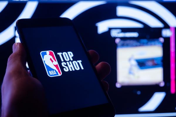 Top Shot NBA app.
