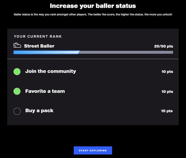 Increase your baller status.