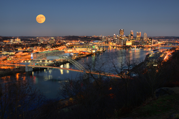 City of Pittsburgh at night.