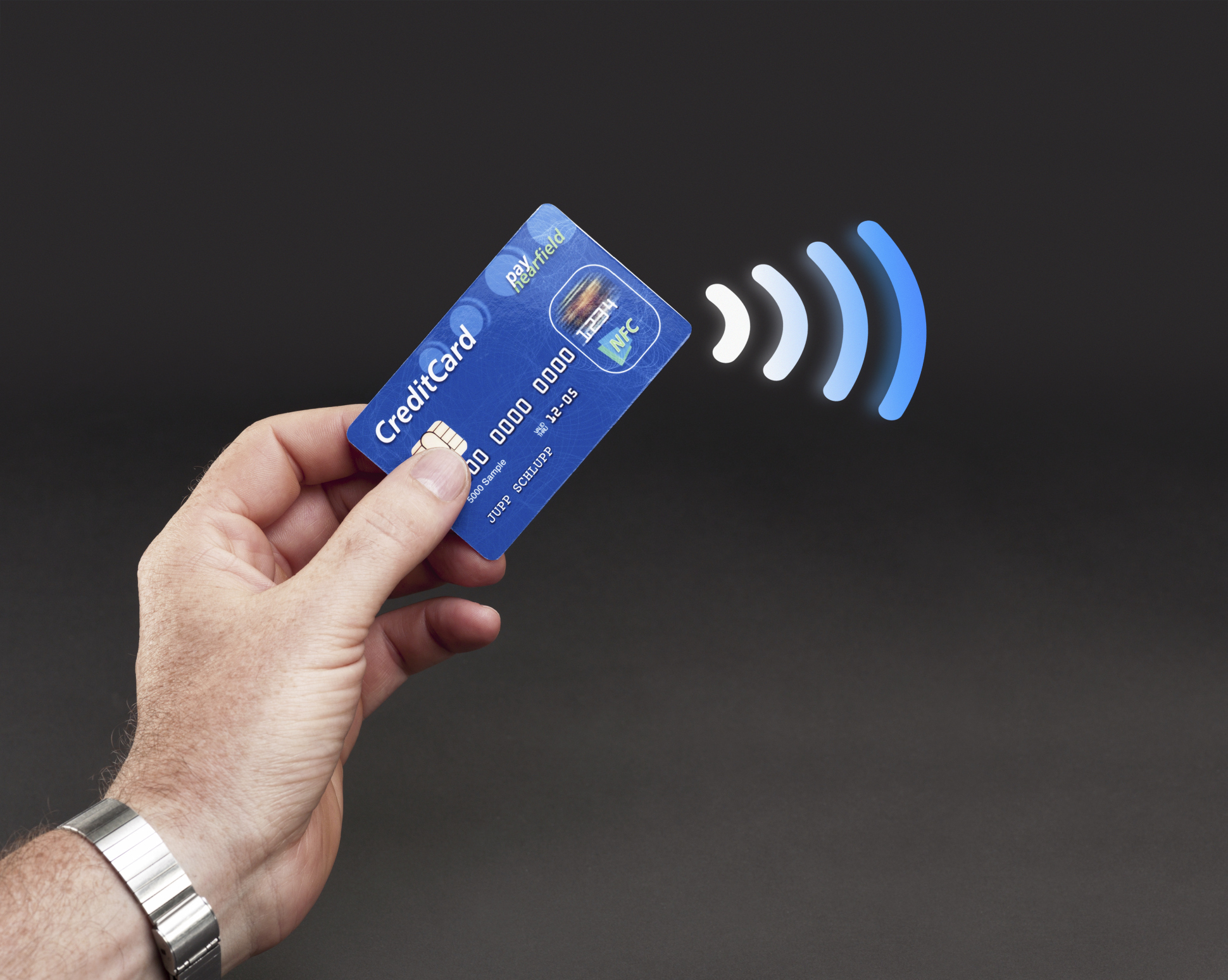 RFID wireless credit card payments