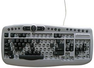 A keyboard missing a lot of keys
