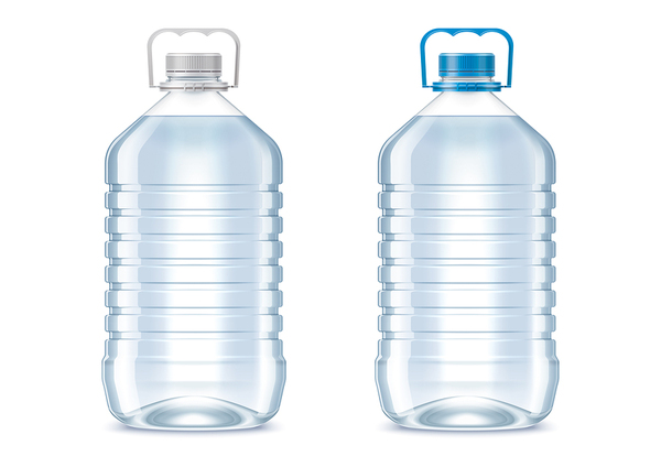 Two bottles of water.