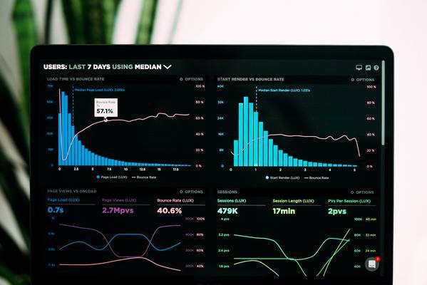 Charts and bar graphs.