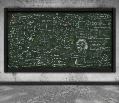 chalkboard of equations