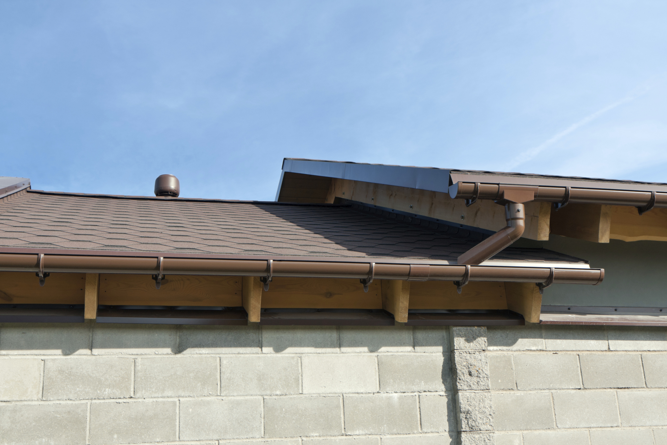 Elegant Matching Gutters To Roofing Designs.