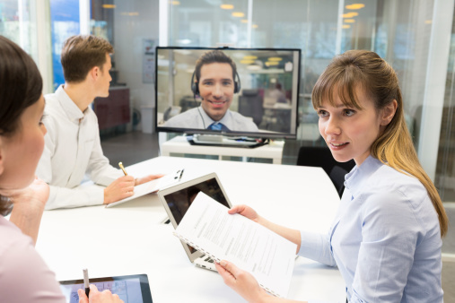 Video conferencing brings businesses and their clients together.