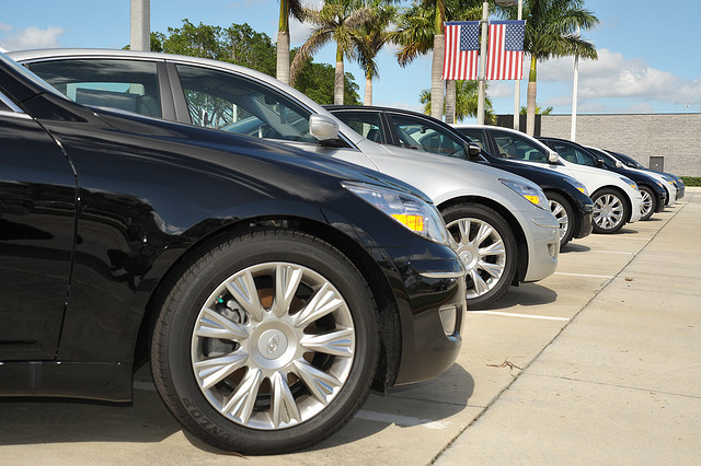 line of cars Buying a New Car? Keep These 5 Tidbits in Mind