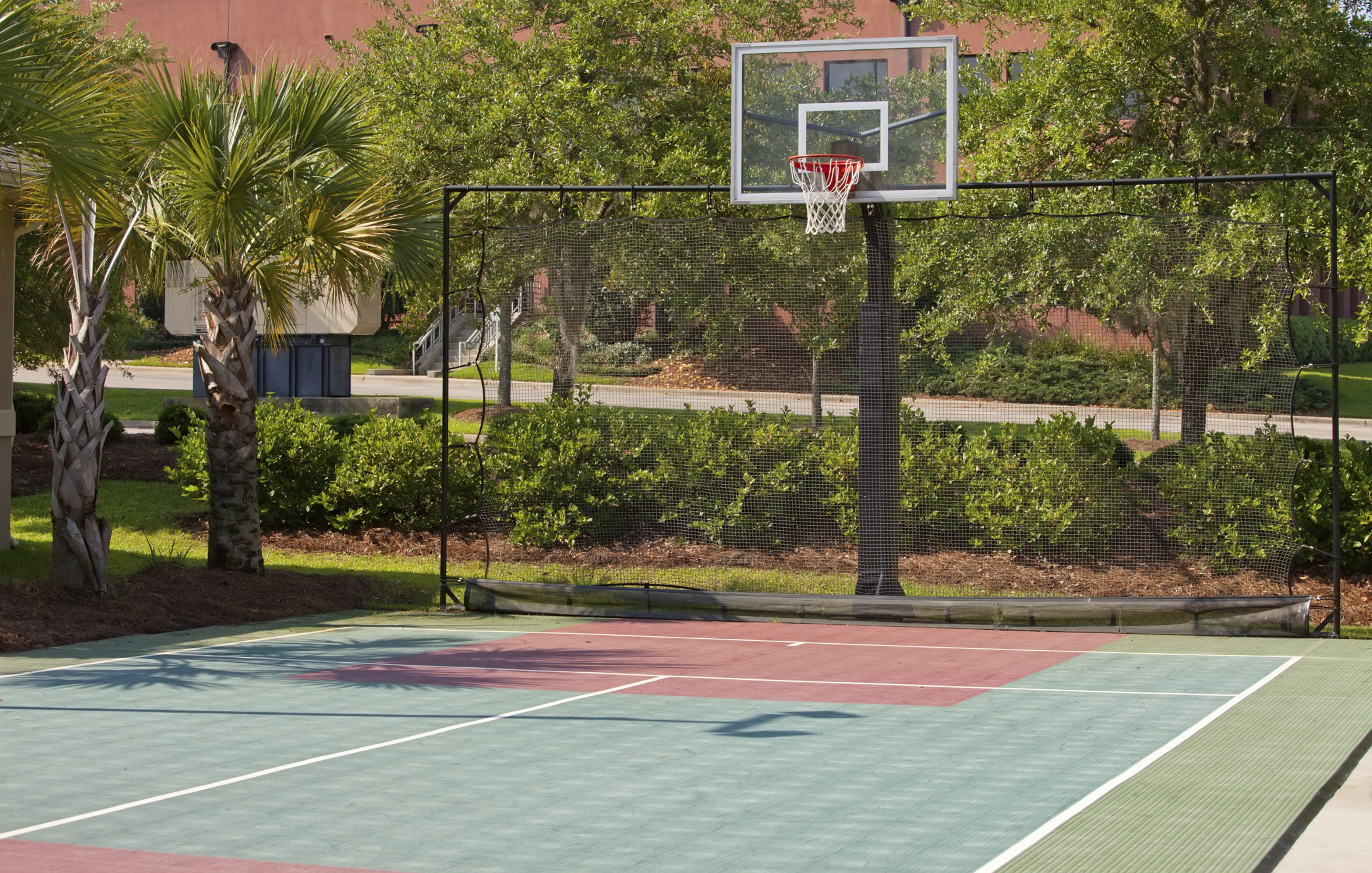 How much does a backyard basketball court cost 2017 for How much does it cost to build indoor basketball court
