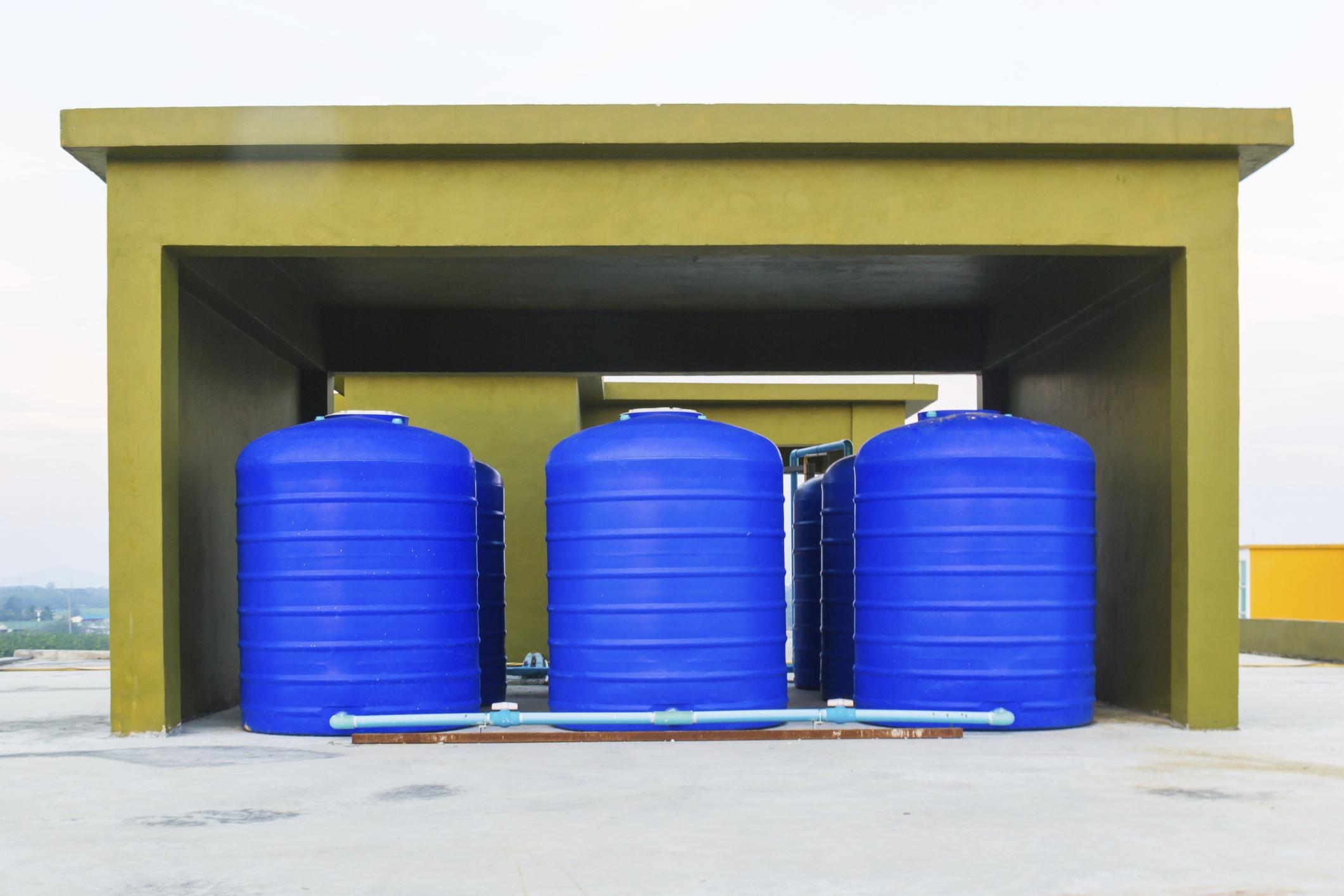 Rainwater harvesting storage tanks