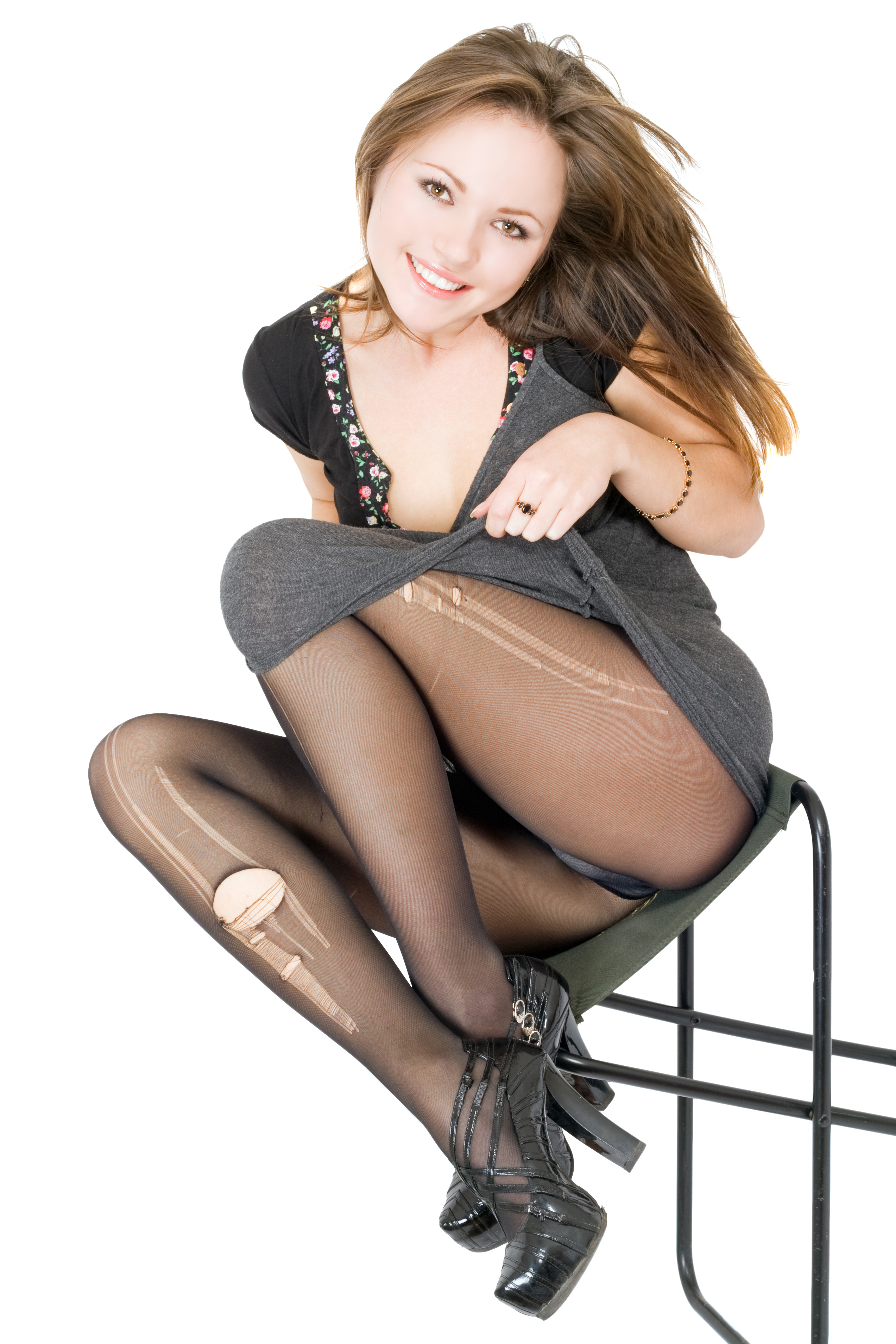 Woman In Pantyhose Is 52