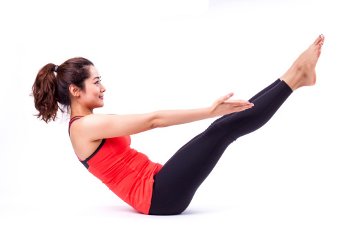 The core muscles around the abdomen are the key muscles at work in any good Pilates workout.