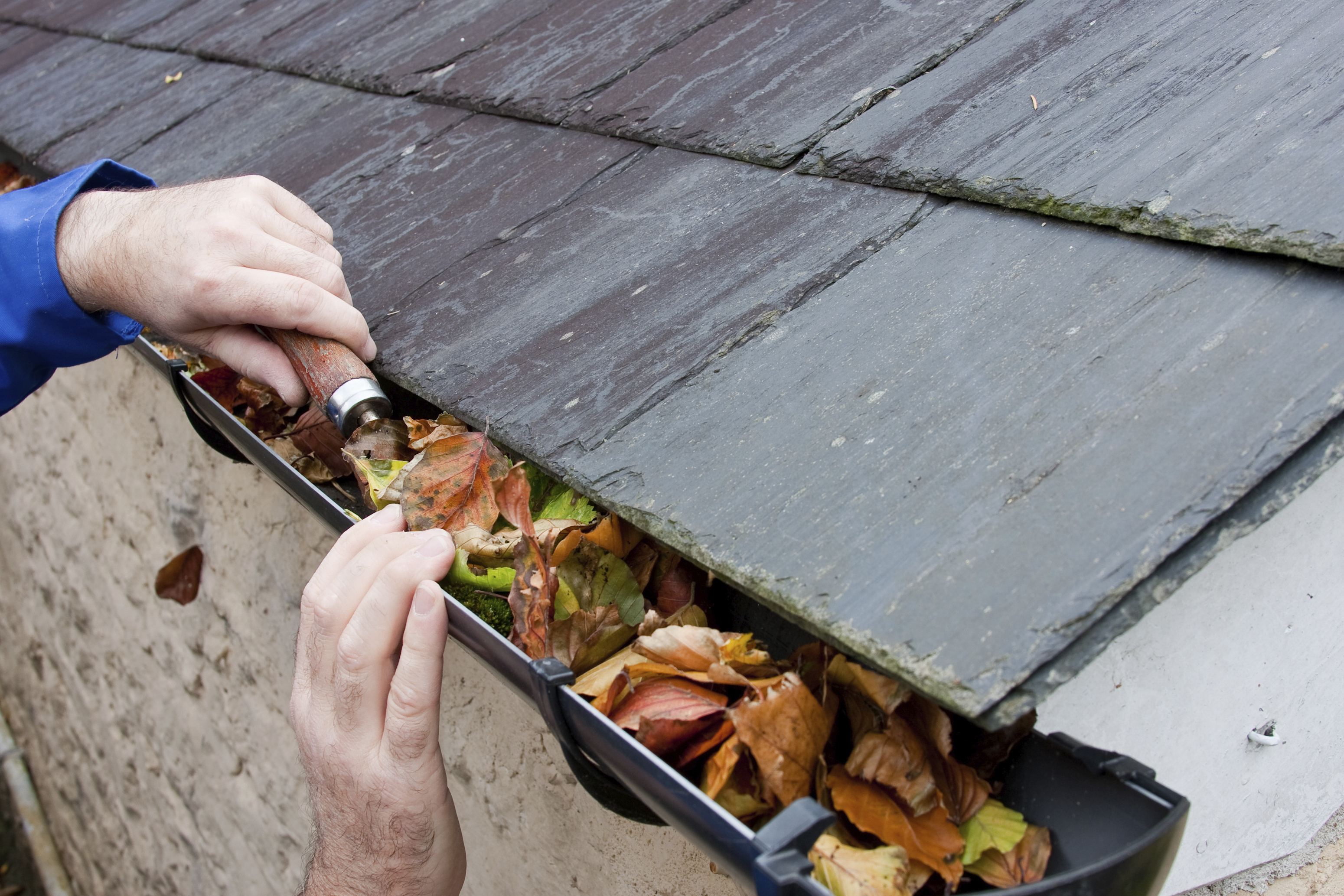 Image result for cleaning out gutters