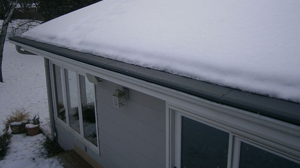 Roof with snow.