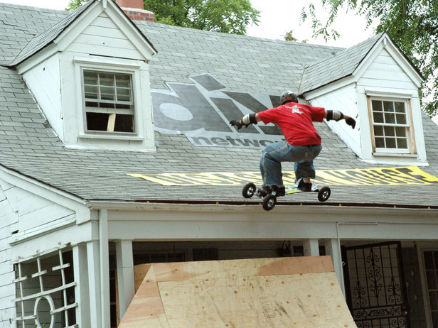 8 non traditional uses for gutters but can they do the same on gutters the do it yourself network accepted the challenge of building gutter skateboard rails and this brave solutioingenieria Choice Image