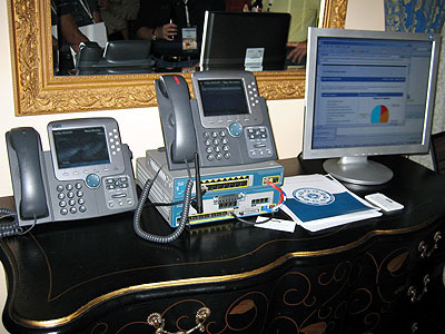 IP phones offer twice the features of traditional phone systems.