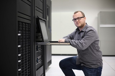 IT guy working at pc