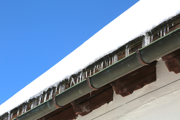 Gutters on a house.