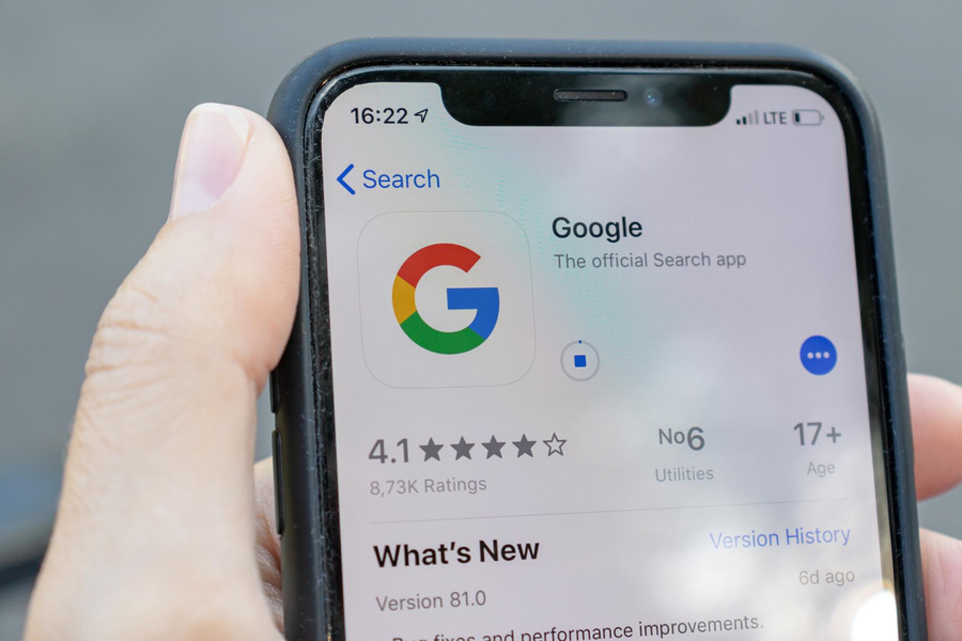 Google search app.