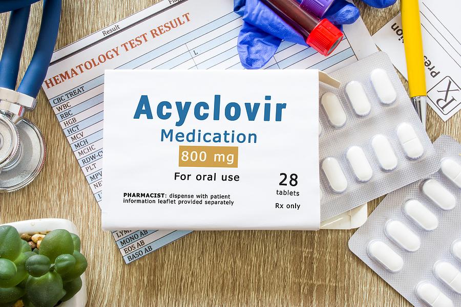 Acyclovir medication.