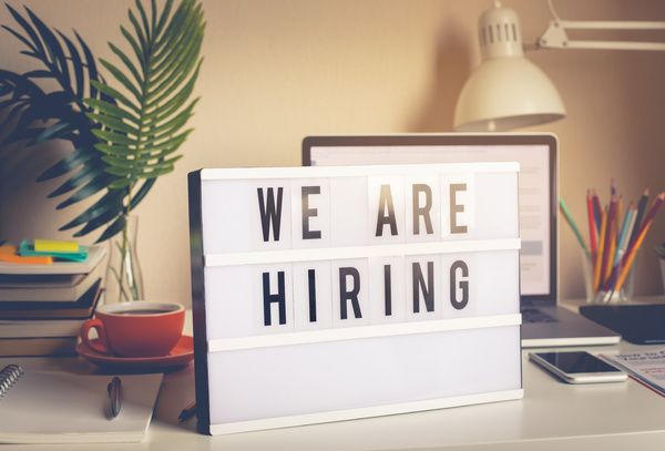 We are hiring sign.