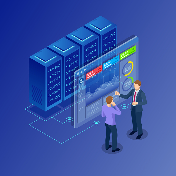 bigstock Isometric Concept Of Data Netw 232904026 600x Database Replication Software 101