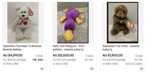 eBay beanie babies auctions.