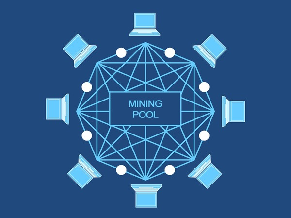 Mining pool diagram.