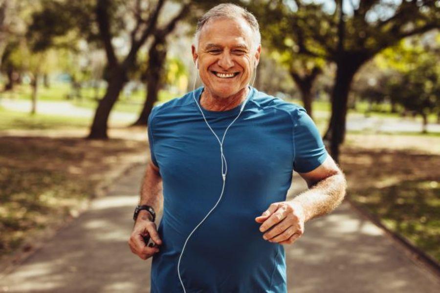 Running releases feel-good hormones