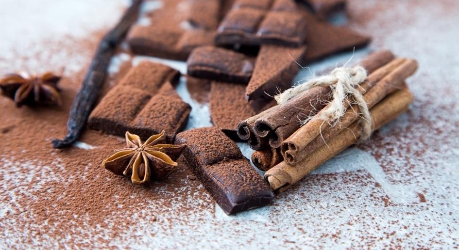 Cinnamon and chocolate.