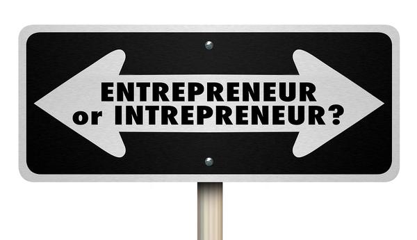 Entrepreneur sign.
