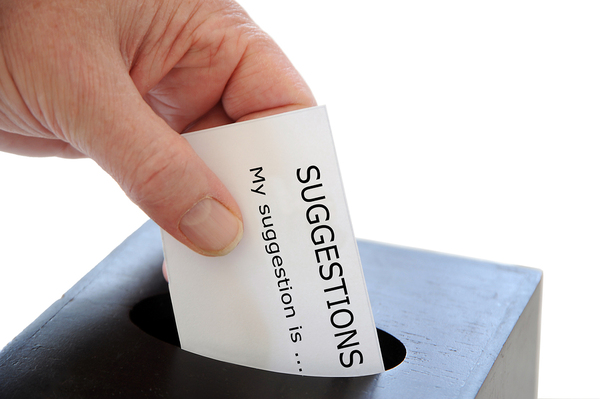 Suggestion box.