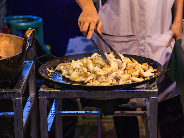 Chef preparing a meal.