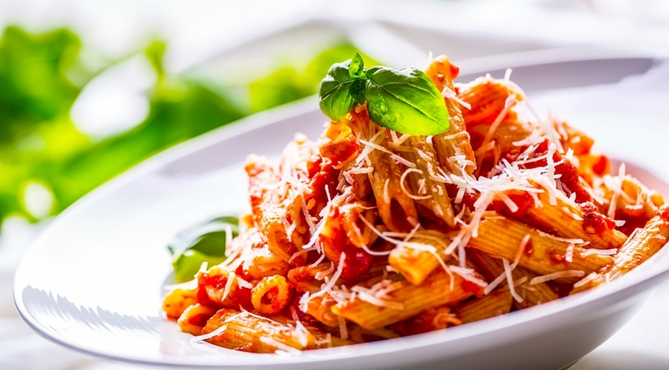Bowl of pasta.