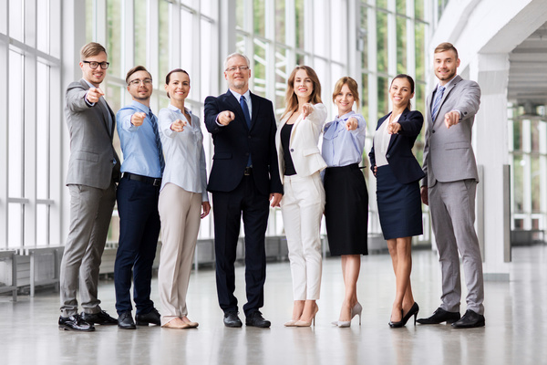 Group of business people standing together.
