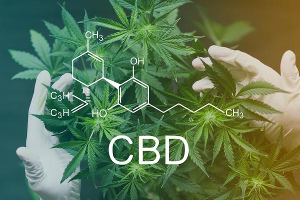 CBD molecule.