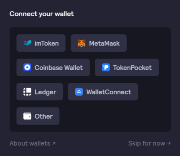 Connect your wallet screen.