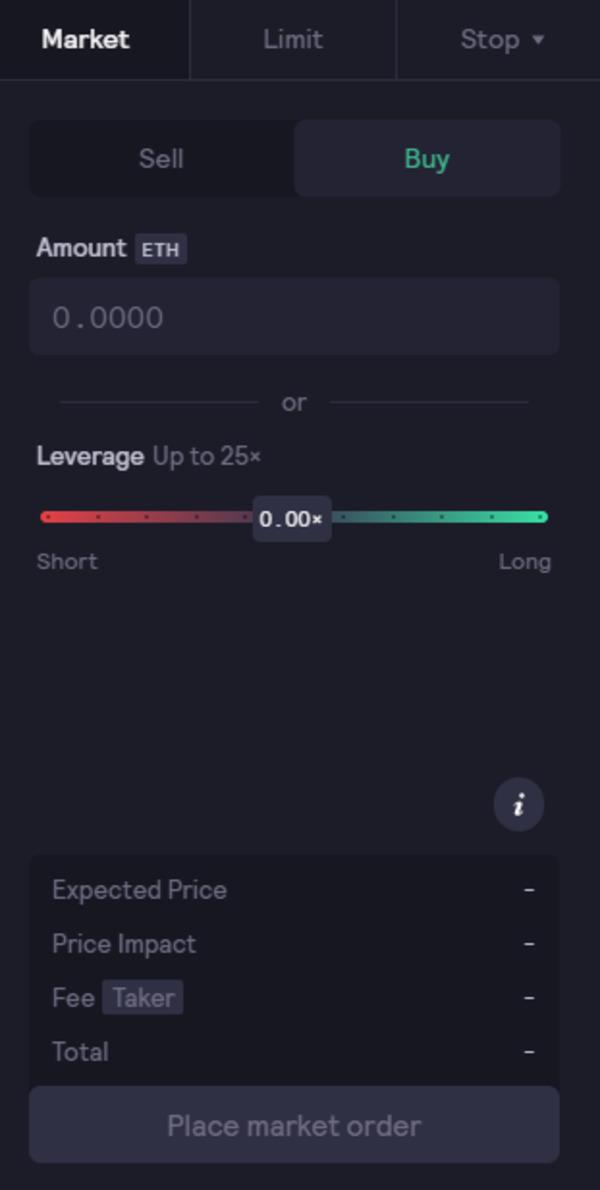 Market screen.