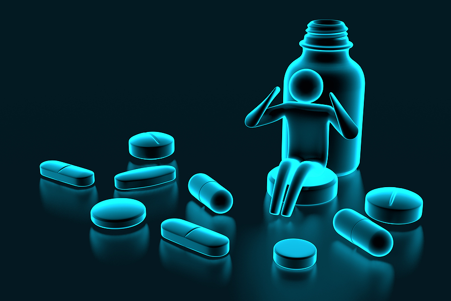 Bottle capsules and tablets.