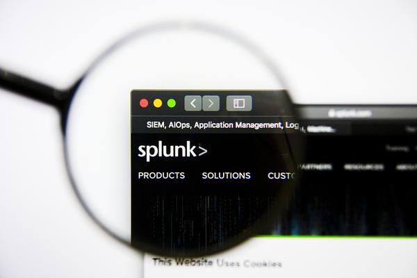 Splunk screen shot.